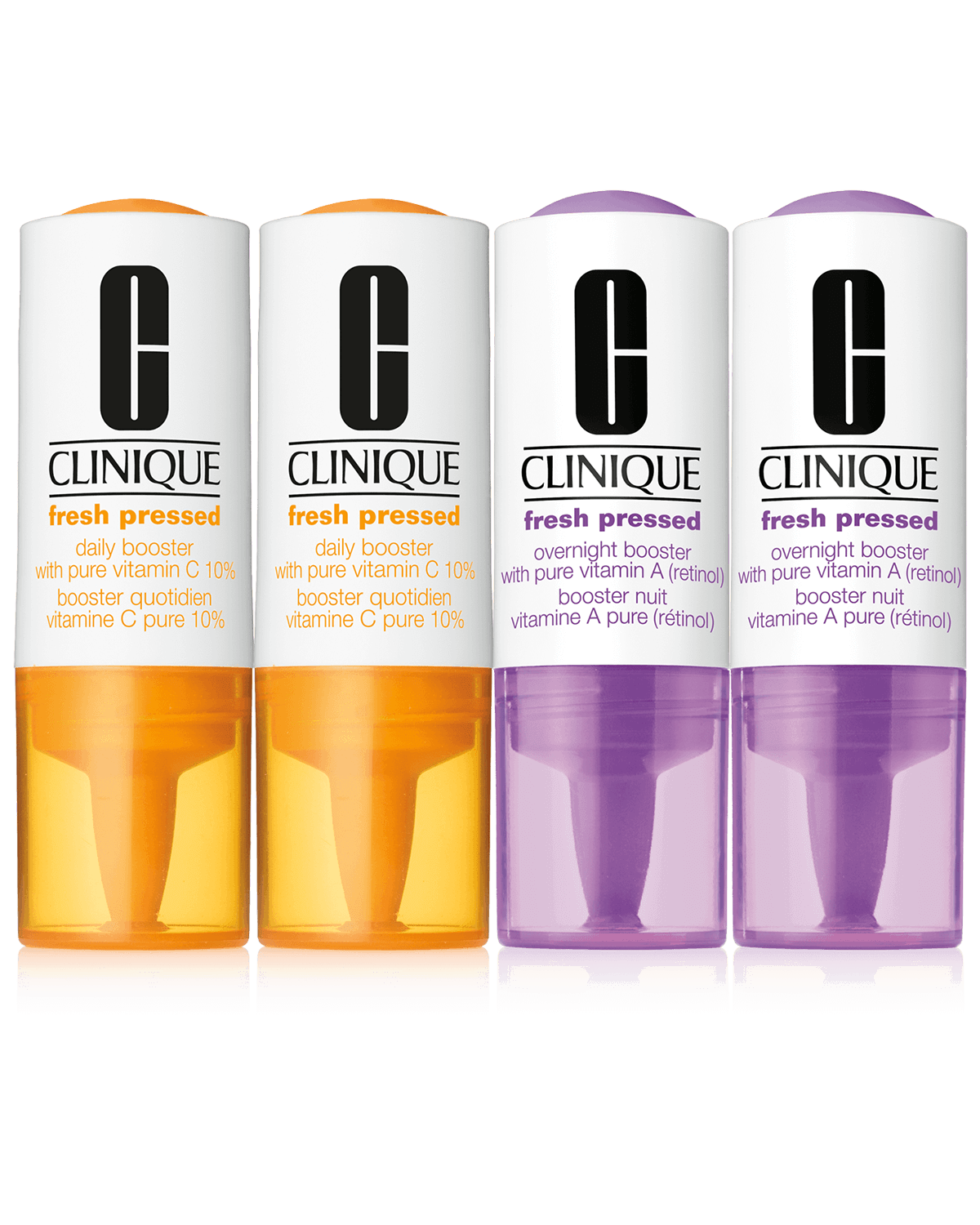 Clinique Fresh Pressed Clinical™ amplificateurs quotidien et de nuit avec vitamines C à 10 % et A (rétinol) pures