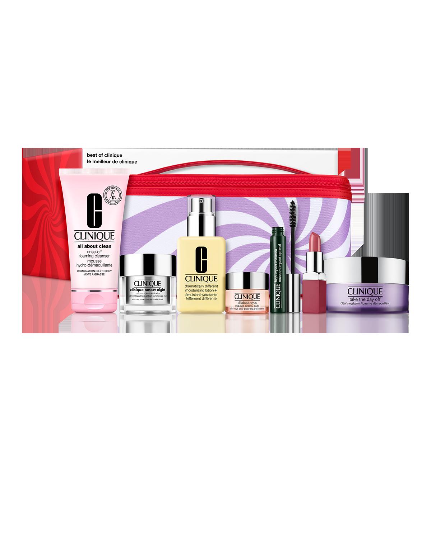 Best of Clinique : ensemble de soins de la peau et maquillage