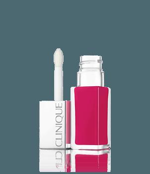 Rouge à lèvres Clinique Pop™ Lacquer + base de teint
